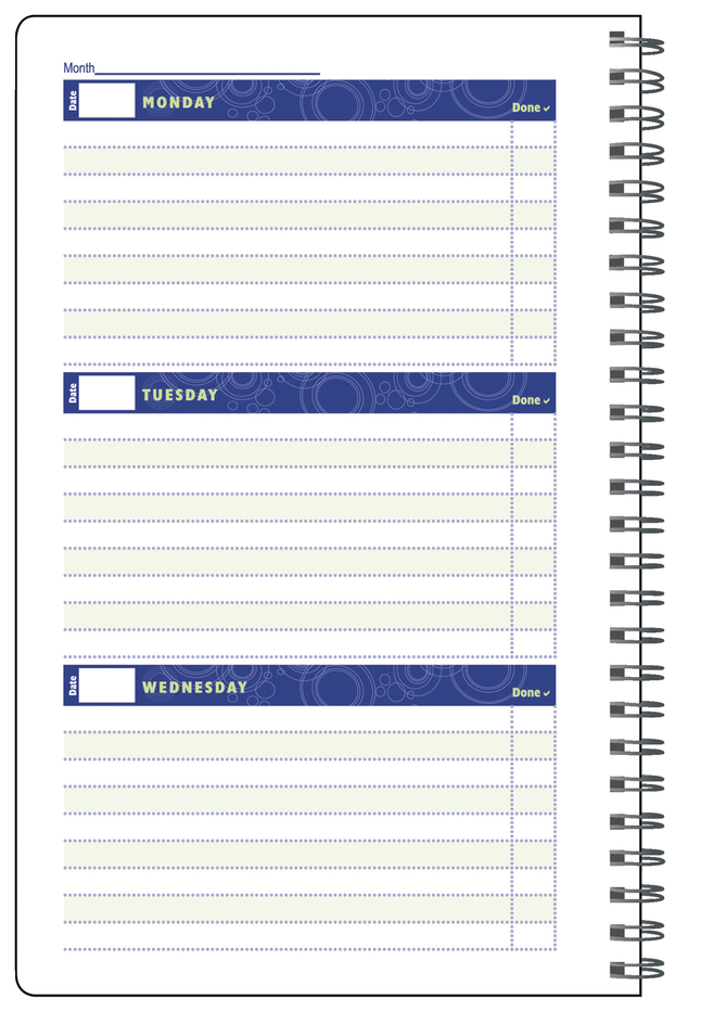 Image for Hammond & Stephens Undated Weekly Student Planner, 7 x 11 Inches, 96 Pages from School Specialty