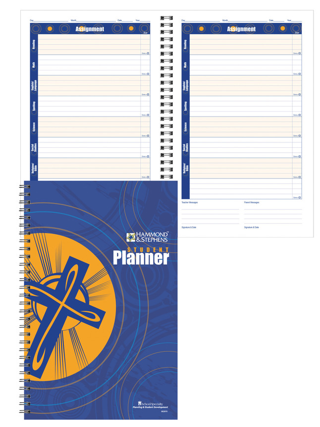 Image for Hammond & Stephens Daily Student Planner with Religion and Bible Tabs, 7 x 11 Inches, 192 Pages from School Specialty