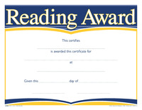 Award Certificates, Item Number 1475492