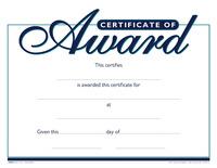 Award Certificates, Item Number 1475503