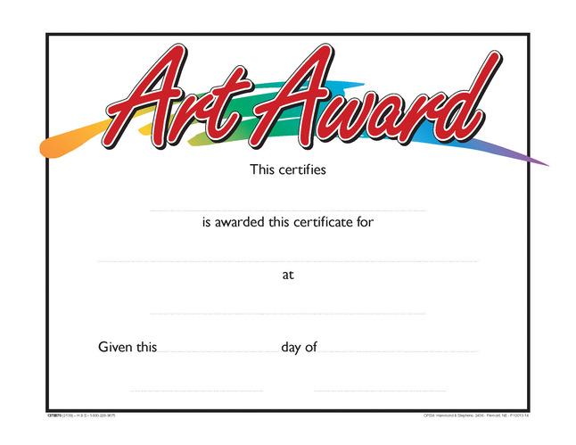 Award Certificates, Item Number 1475507