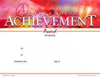 Award Certificates, Item Number 1475522