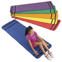 Sportime Curl Up Yoga Mats, Assorted Colors, Set of 6 Item Number 1478720
