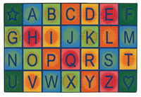 Carpets For Kids Value Line Simple Alphabet Blocks Rug, 3 Feet x 4 Feet 6 Inches Item Number 1481832