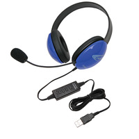 Califone 2800BL-USB Listening First Headset, Blue Item Number 1465268