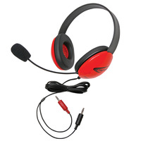 Califone 2800RD-AV Listening First Headset with Dual Plugs, Red Item Number 1465269