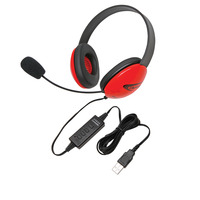 Califone 2800RD-USB Listening First Headset, Red Item Number 1465270
