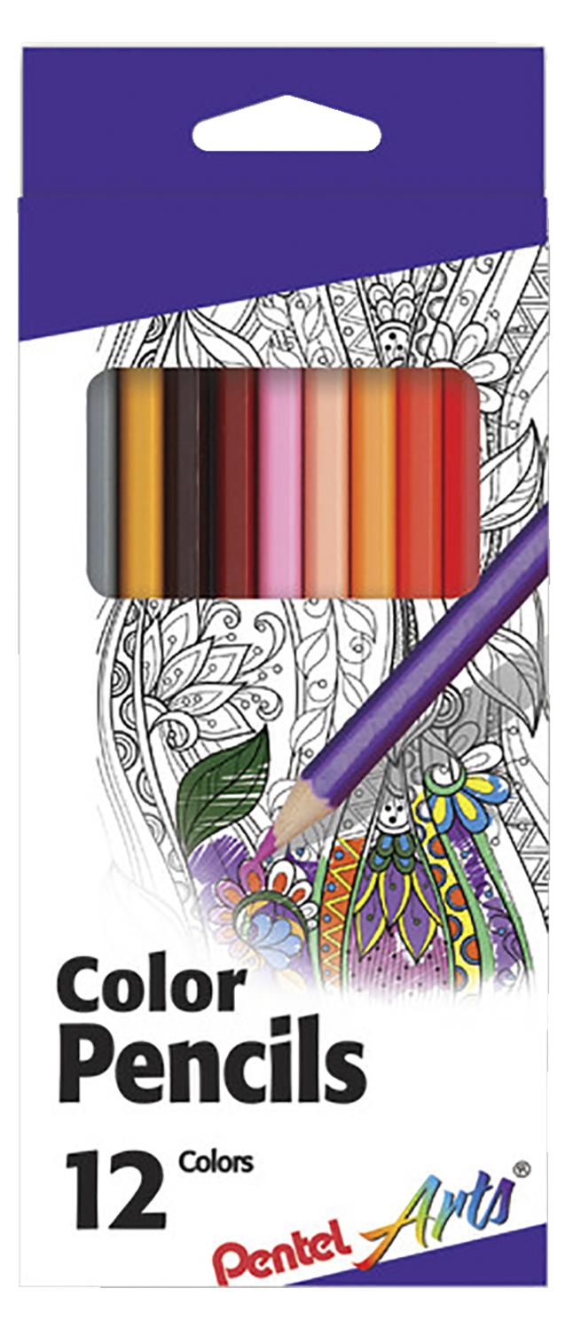 12 color set PENTEL WATERCOLOR PENCILS