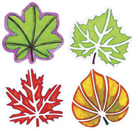 Roylco Perfect Leaf Stencil Set, 8 x 8 Inches, Set of 12 Item Number 1494125