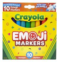 Crayola Emoji Stamper Markers, Assorted Colors, Set of 10 Item Number 1494478