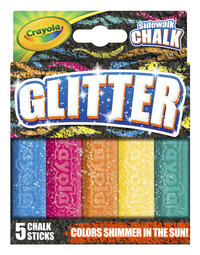 Crayola Glitter Special Effects Chalk, Assorted Colors, Set of 5 Item Number