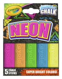 Crayola Special Effects Chalk Set, Assorted Neon Colors, Set of 5 Item Number