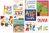 Childcraft ABC's Board Book Library, Grade PreK to K, Set of 10 Item Number 1496849