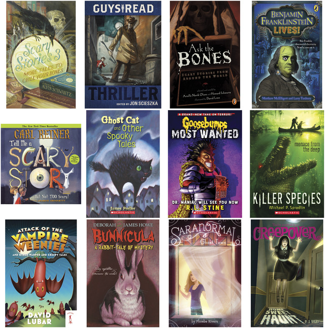 School Specialty Horror and Scary Stories Book Set, Grades 3 - 5, Set of 12