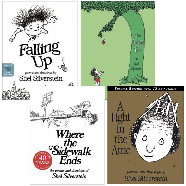 School Specialty Shel Silverstein Series Hardcover Book Set, Set of 4