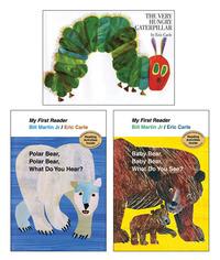 School Specialty Exclusive Eric Carle Board Book Set, Grade PreK to 1, Set of 3 Item Number 1497006