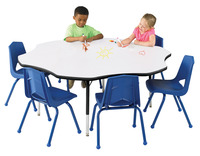 Classroom Select Markerboard Activity Table, Flower, 60 Inches, Black Edge, Various Options Item Number 1497102