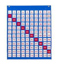 School Specialty 120 Pocket Chart, 26-3/4 L x 32 W in, Ages 5+ Item Number 1498141