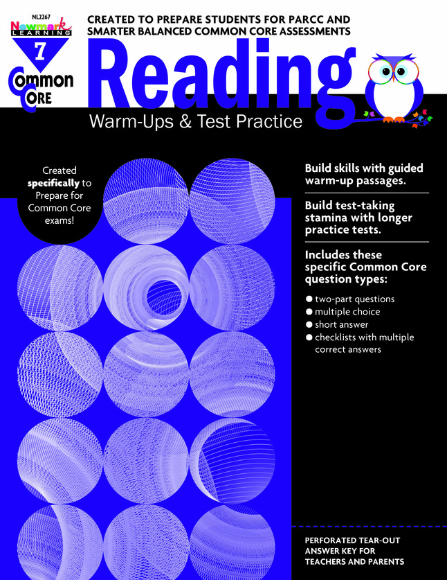 Newmark Common Core Reading Warm-Ups and Test Practice Book, Grade 7