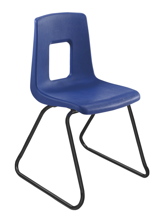 Wondrous Classroom Select Traditional Sled Base Chair 15 1 2 Inch Seat Height Black Frame Various Options Bralicious Painted Fabric Chair Ideas Braliciousco