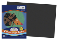 SunWorks Heavyweight Construction Paper, 12 x 18 Inches, Black, 50 Sheets Item Number 1506461