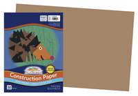 SunWorks Heavyweight Construction Paper, 12 x 18 Inches, Light Brown, 50 Sheets Item Number 1506467