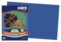 SunWorks Heavyweight Construction Paper, 12 x 18 Inches, Bright Blue, 50 Sheets Item Number 1506473