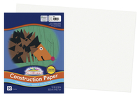 SunWorks Heavyweight Construction Paper, 12 x 18 Inches, White, Pack of 50 Item Number 1506484