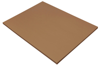 SunWorks Heavyweight Construction Paper, 18 x 24 Inches, Brown, 50 Sheets Item Number 1506546