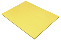 SunWorks Heavyweight Construction Paper, 18 x 24 Inches, Yellow, 50 Sheets Item Number 1506557