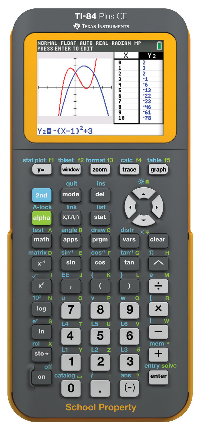 Texas Instruments TI-84 Plus Calculators, Clear Entry (CE), Pack of 10