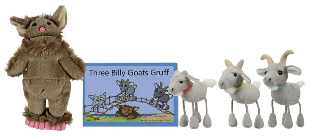 The Puppet Company The Three Billy Goats Gruff Traditional Story Set