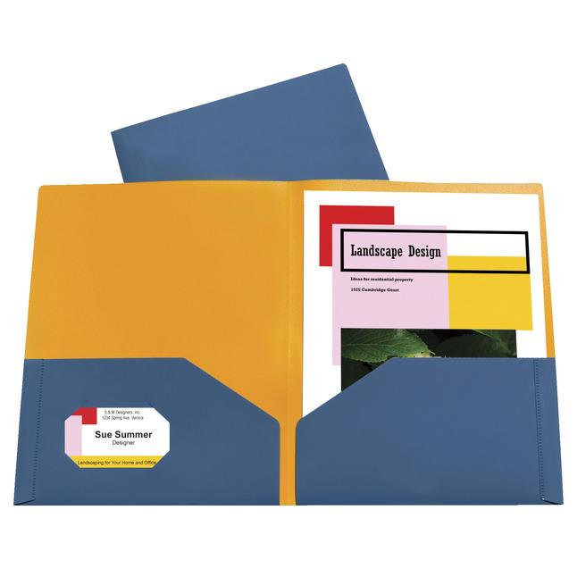 Poly 2 Pocket Folders, Item Number 1536831
