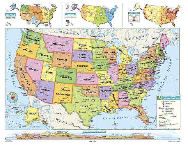 Nystrom Intermediate Us Map - Us-full-map