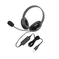 Califone 2800BK-USB Listening First Stereo Headset Item Number 1543780