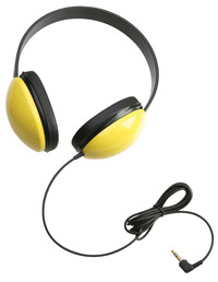 Califone Listening First Stereo Headphones, Yellow Item Number 1543832