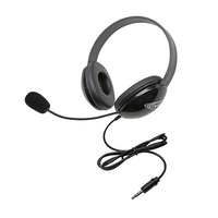 Califone 2800TBK Listening First Stereo Headphones with 3.5mm Plug, Black Item Number 1543911