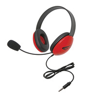 Califone 2800-RDT Headset with 3.5mm Plug, Red Item Number 1543912