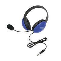 Califone 2800-BLT Headset with 3.5mm Plug, Blue Item Number 1543914