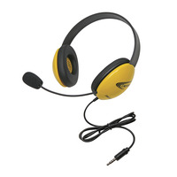 Califone 2800-YLT Headset with 3.5mm Plug, Yellow Item Number 1543915