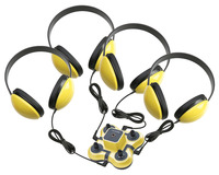 Califone 1114YL-4 Kid First Listening Center, Yellow, 4 Headphone and 1 Jackbox Item Number 1544119