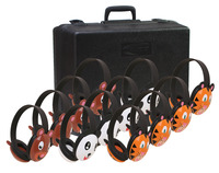 Califone 2810-12 Listening First Animal Headphones with Storage Case, Set of 12 Item Number 1544129