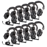 Califone 3068AV-10L Mono/Stereo Switchable Headphones, Black, Pack of 10 Item Number 1544150