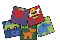 Carpets for Kids Sequential Seating Literacy Carpet Squares, 12 Inches, Set of 26 Item Number 1544408