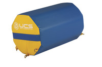 Image for UCS Octagonal Spot Trainer, 15 x 24 Inches, Yellow/Blue from SSIB2BStore