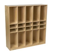 Image for Childcraft Coat Locker, 10 Unit with 10 Cubbies, 52-1/2 x 14-3/4 x 53-3/8 Inches from SSIB2BStore