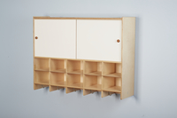 Image for Childcraft Wall Mounted Coat Locker, 10 Cubbies, 47-3/4 x 13 x 36 Inches from School Specialty