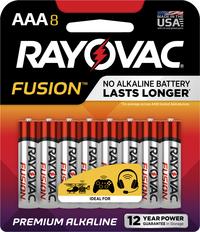 Rayovac Fusion Advanced Alkaline AAA 8-PK Item Number