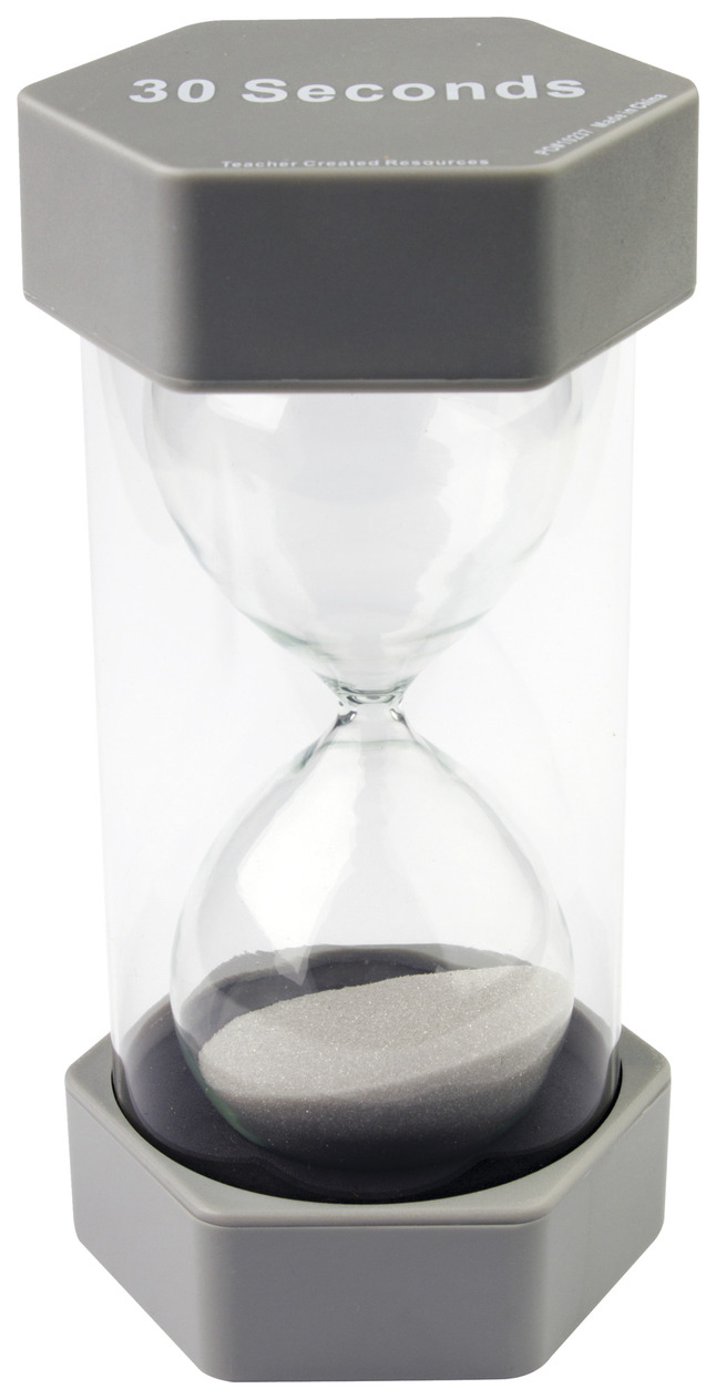 Image for Teacher Created Resources 30 Second Sand Timer, Large from School Specialty