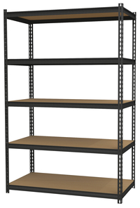 Image for Hirsh Industries Iron Horse 5 Shelf Unit, 18 x 36 x 72 Inches, Black from School Specialty